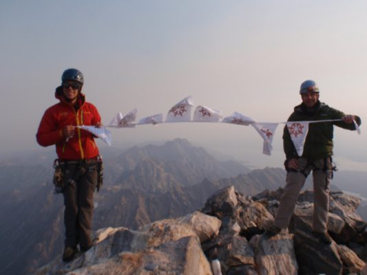 RCND Prayer flags atop Aconcagua, 2011. The flags made it even though Mark came down by helicopter with Altitude sickness.